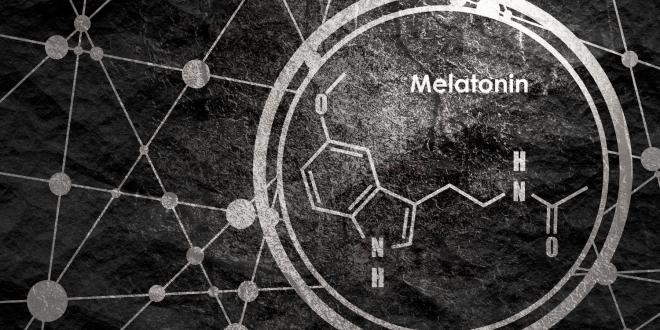 a diagram of a melatonin molecule